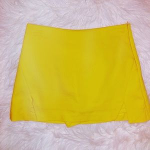 Yellow Zara Skort